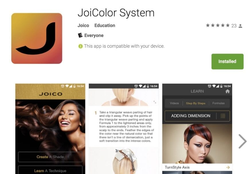 JoiColor System App in Google Play