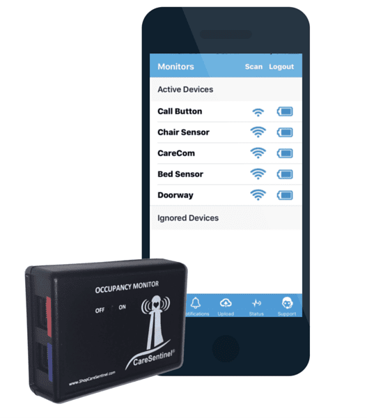 CareSentinel Device and iOS App
